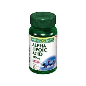 Ácido Alfa Lipoico 100 mg · Nature's Bounty · 30 cápsulas