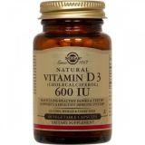 Vitamina D3 600 UI · Solgar · 60 cápsulas