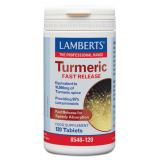 Cúrcuma - Liberación Rápida · Lamberts · 120 comprimidos