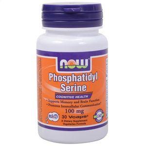 Fosfatidil Serina · NOW · 30 cápsulas