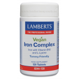 Complejo de Hierro Vegano · Lamberts · 120 comprimidos