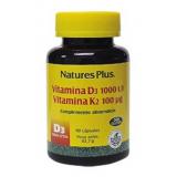 Vitamina D3 & Vitamina K2 · Nature's Plus · 90 cápsulas