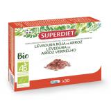 Levadura de Arroz Rojo BIO · Superdiet · 30 cápsulas