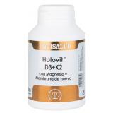 Holovit D3+K2 con Magnesio y Membrana de Huevo · Equisalud · 180 cápsulas