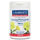 Aceite de Prímula Extra Puro Alta Potencia · Lamberts · 90 perlas