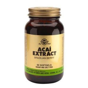Extracto de Açai 50 mg · Solgar · 60 cápsulas