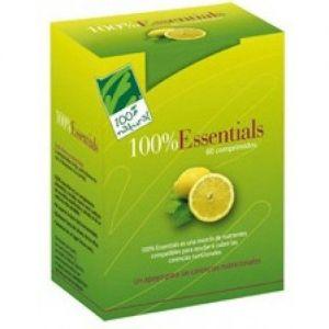 100% Essentials · 100% Natural · 60 comprimidos