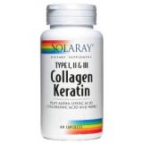Collagen Keratin · Solaray · 60 cápsulas
