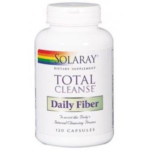Total Cleanse Daily Fiber · Solaray · 120 cápsulas