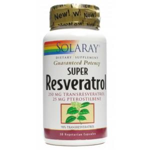Super Resveratrol · Solaray · 30 cápsulas