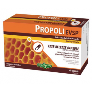 Propoli EVSP Liberación Rápida · Herbovita · 40 cápsulas