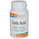 Ácido Fólico 800 mcg · Solaray · 100 cápsulas