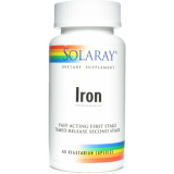 Iron · Solaray · 60 cápsulas