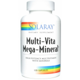 Mega Multi Mineral · Solaray · 120 cápsulas