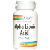 Ácido Alfa Lipoico 250 mg · Solaray · 60 cápsulas