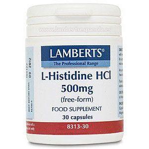 L-Histidina HCI · Lamberts · 30 cápsulas