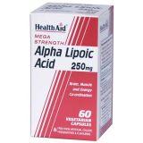 Ácido Alfa Lipoico 250 mg · Health Aid · 60 cápsulas