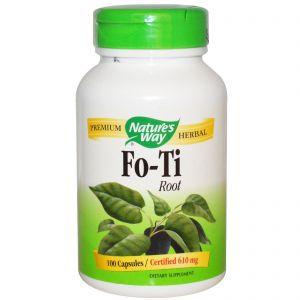Raíz de Fo-Ti · Nature's Way · 100 cápsulas
