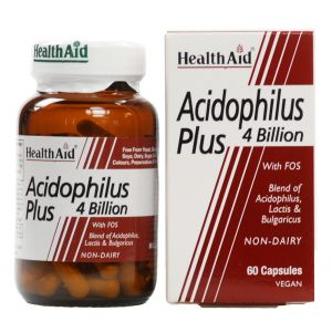 Acidophilus Plus · Health Aid · 60 cápsulas