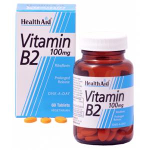 Vitamina B2 (Riboflavina) · Health Aid · 60 comprimidos