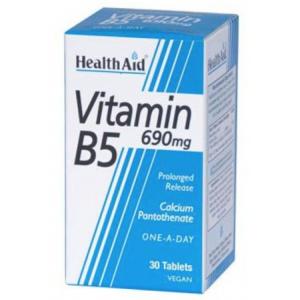 Vitamina B5 (Pantotenato cálcico) · Health Aid · 30 comprimidos