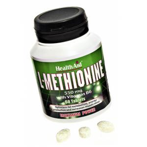 L-Metionina 550 mg · Health Aid · 60 comprimidos