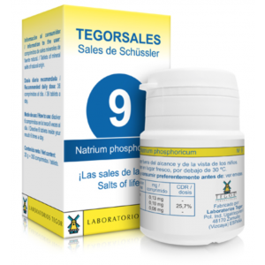 Tegorsales nº9 Natrium phosphoricum · Tegor · 20 gramos