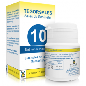 Tegorsales nº10 Natrium sulfuricum · Tegor · 20 gramos