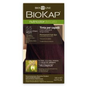 Biokap Nutricolor Delicato 5.5 Castaño Claro Caoba · Biokap · 140 ml