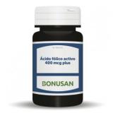 Ácido Fólico Activo 400 mcg Plus · Bonusan · 90 comprimidos [Caducidad 07/2021]