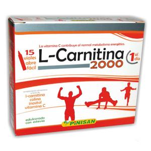 L-Carnitina 2.000 mg · Pinisan · 15 viales