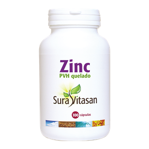 Zinc PVH Quelado · Sura Vitasan · 100 cápsulas
