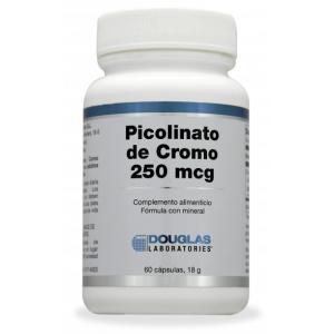 Picolinato de Cromo 250 mcg · Douglas · 60 cápsulas