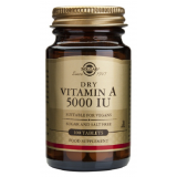 Vitamina A Seca 5.000 UI · Solgar · 100 comprimidos