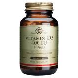 Vitamina D3 400 UI · Solgar · 100 perlas