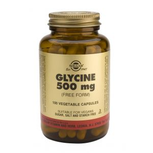 Glicina 500 mg · Solgar · 100 cápsulas