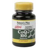 Ultra Coenzima Q10 100 mg · Nature's Plus · 30 perlas