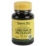 Picolinato de Cromo 200 mcg · Nature's Plus · 90 comprimidos