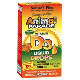 Animal Parade Vitamina D3 Gotas · Nature's Plus · 10 ml [Caducidad 09/2019]