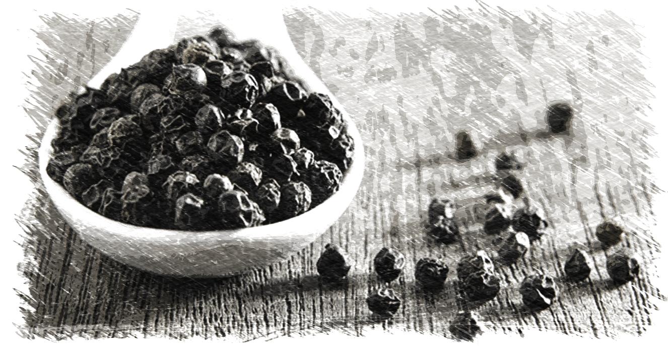 granos de pimienta negra para adelgazar